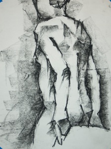 Indecision - Charcoal on paper - 22x28 - 11/13