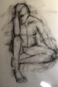 Nude Study - Charcoal on paper - 30x40 08/14