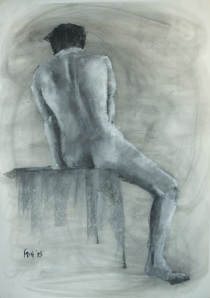 Seated Nude - Charcoal and pastel on paper - 30x40 - 11/13