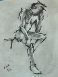 Study (Reflection) - Charcoal on paper - 22x28 - 10/13